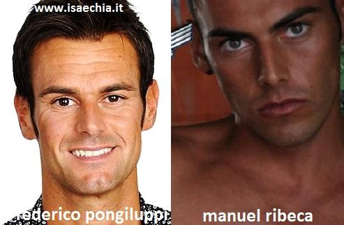 Somiglianza tra Filippo Pongiluppi e Manuel Ribeca