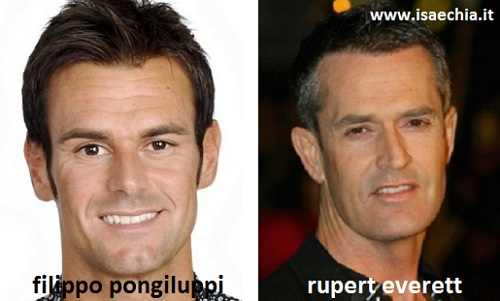 Somiglianza tra Filippo Pongiluppi e Rupert Everett