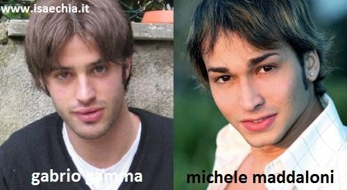 Somiglianza tra Gabrio Gamma e Michele Maddaloni