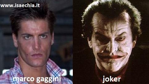 Somiglianza tra Marco Gaggini e il Joker