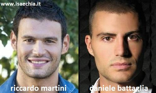 Somiglianza tra Riccardo Martini e Daniele Battaglia