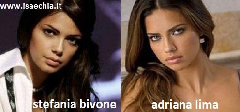 Somiglianza tra Stefania Bivone e Adriana Lima