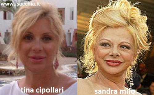 Somiglianza tra Tina Cipollari e Sandra Milo