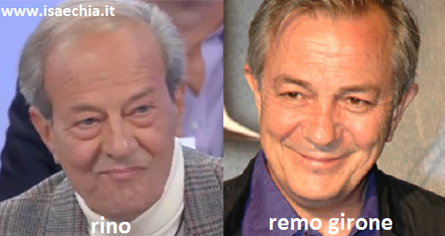 Somiglianza tra il cavaliere Rino e Remo Girone