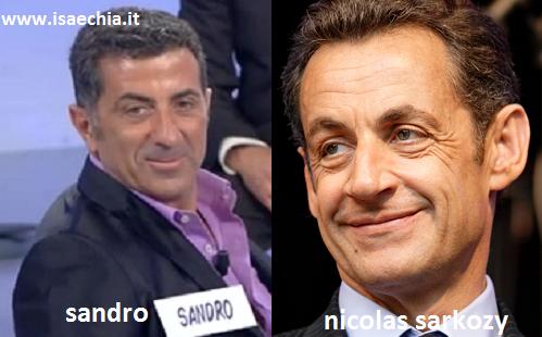 Somiglianza tra il cavaliere Sandro e Nicolas Sarkozy