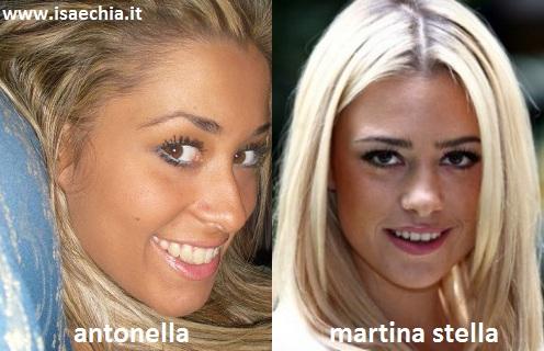 Somiglianza tra la corteggiatrice Antonella e Martina Stella