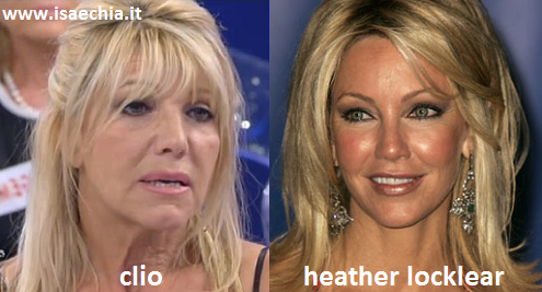 Somiglianza tra la dama Clio e Heather Locklear