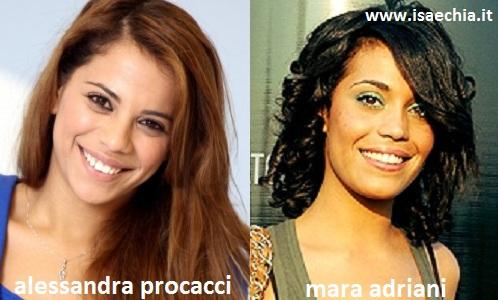 Somiglianza tra Alessandra Procacci e Mara Adriani