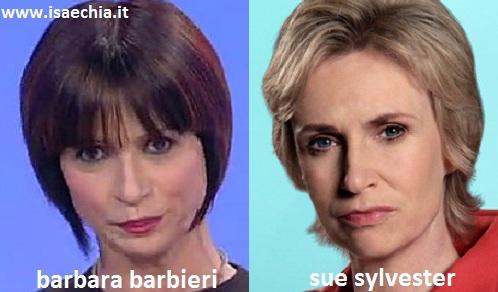 Somiglianza tra Barbara Barbieri e Sue Sylvester