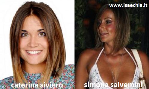 Somiglianza tra Caterina Siviero e Simona Salvemini