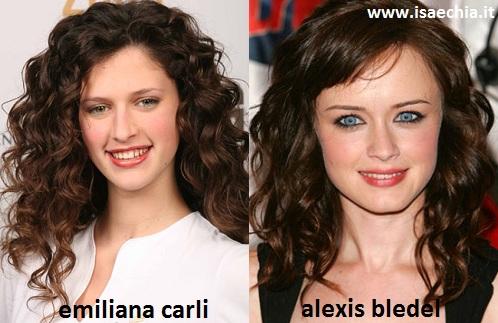 Somiglianza tra Emiliana Carli e Alexis Bledel