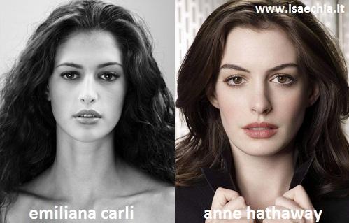 Somiglianza tra Emiliana Carli e Anne Hathaway