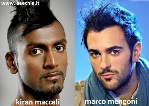 Somiglianza Tra Kiran Maccali E Marco Mengoni