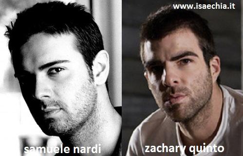 Somiglianza tra Samuele Nardi e Zachary Quinto