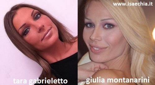 Somiglianza tra Tara Gabrieletto e Giulia Montanarini