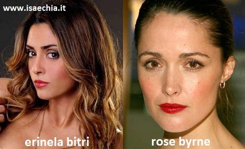 Somiglianza tra Erinela Bitri e Rose Byrne