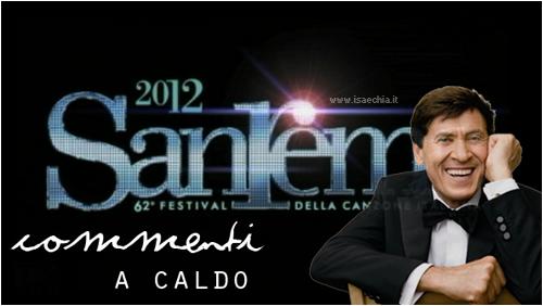 'Sanremo 2012': commenti a caldo