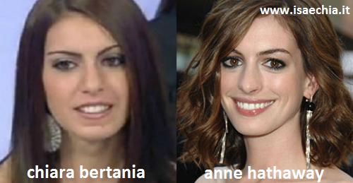 Somiglianza tra Chiara Bertania e Anne Hathaway