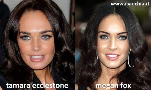 Somiglianza tra Tamara Ecclestone e Megan Fox