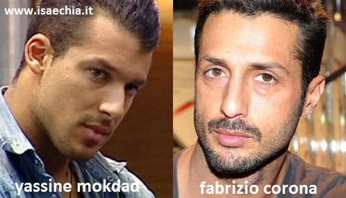 Somiglianza tra Yassine Mokdad e Fabrizio Corona
