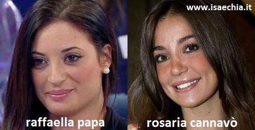Somiglianza tra Raffaella Papa e Rosaria Cannavò