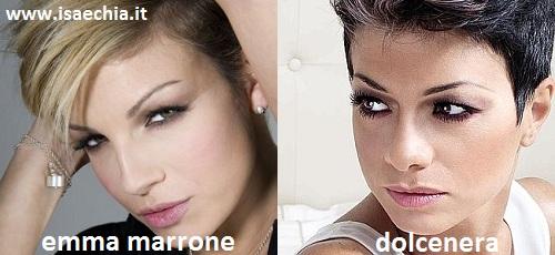 Somiglianza tra Emma Marrone e Dolcenera
