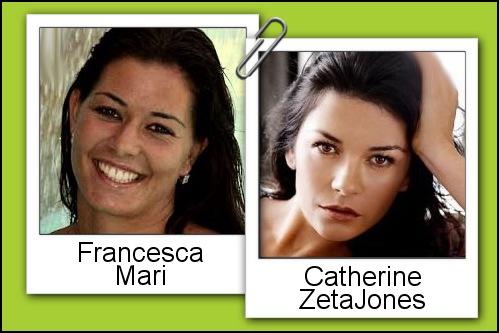 Somiglianza tra Francesca Mari e Catherine Zeta Jones