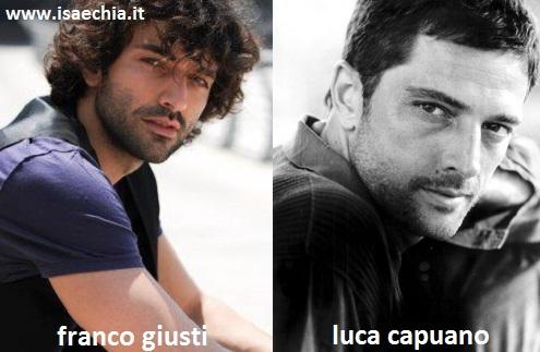 Somiglianza tra Franco Giusti e Luca Capuano