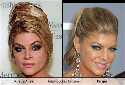 Somiglianza tra Kirstie Alley e Fergie