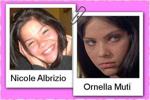 Somiglianza tra Nicole Albrizio e Ornella Muti