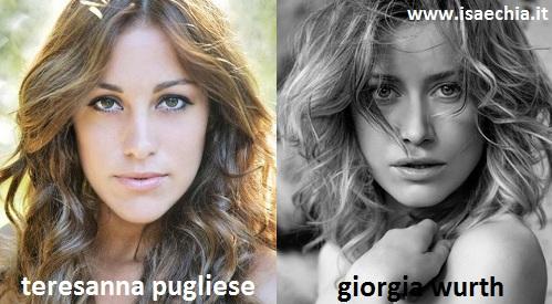 Somiglianza tra Teresanna Pugliese e Giorgia Wurth