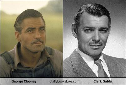Somiglianza tra George Clooney e Clark Gable