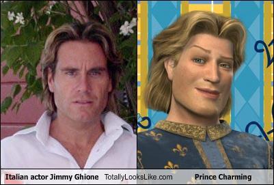 Somiglianza tra Jimmy Ghione e il Principe Azzurro di 'Shrek'
