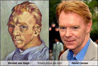 Somiglianza tra Vincent Van Gogh e David Caruso