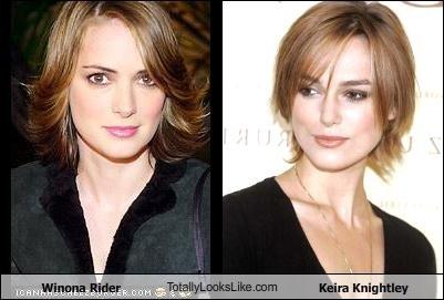 Somiglianza tra Winona Rider e Keira Knightley