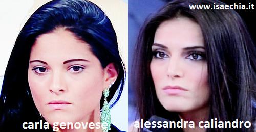 Somiglianza tra Carla Genovese ed Alessandra Caliandro