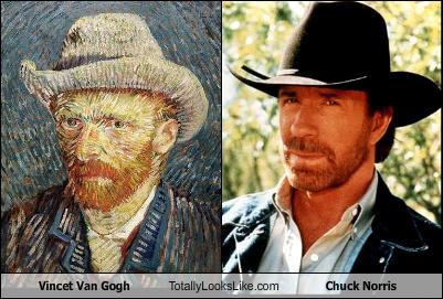 Somiglianza tra Chuck Norris e Vincent Van Gogh
