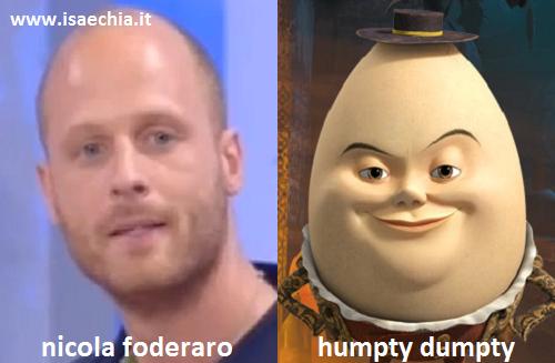Somiglianza tra Nicola Foderaro e Humpty Dumpty