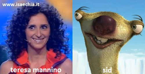 Somiglianza tra Teresa Mannino e Sid