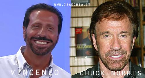 Somiglianza tra il cavaliere Vincenzo e Chuck Norris