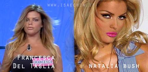 Somiglianza tra Francesca Del Taglia e Natalia Bush