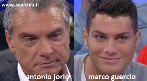 Somiglianza tra Antonio Jorio e Marco Guercio