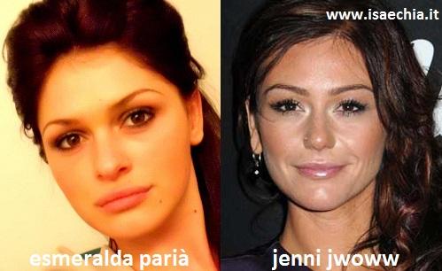 Somiglianza tra Esmeralda Parià e Jenni Jwoww