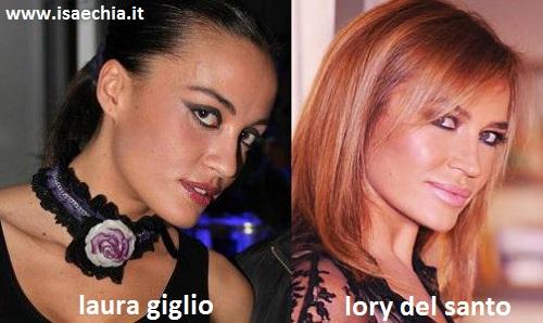Somiglianza tra Laura Giglio e Lory Del Santo
