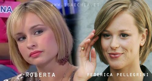 Somiglianza tra Roberta e Federica Pellegrini