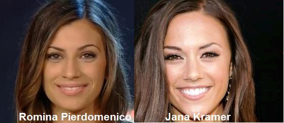 Somiglianza tra Romina Pierdomenico e Jana Kramer