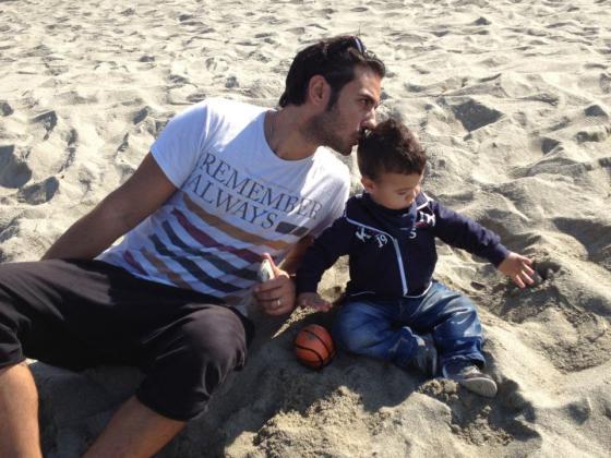 Francesco Pozzessere e il piccolo Francesco Maria