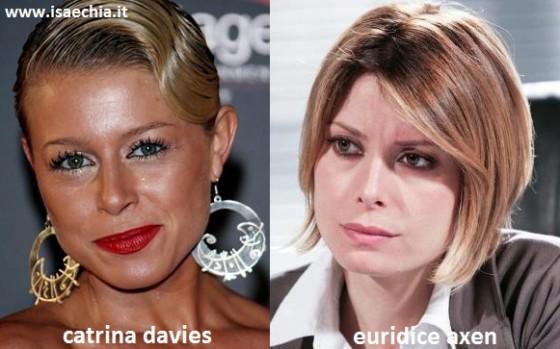 Somiglianza tra Catrina Davies e Euridice Axen