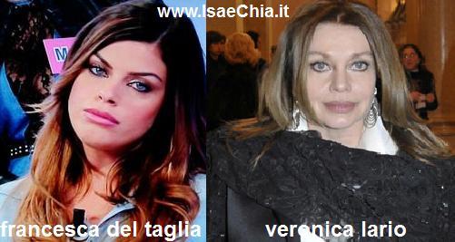 Somiglianza tra Francesca Del Taglia e Veronica Lario