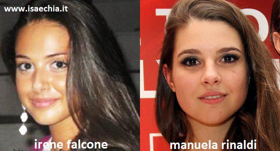 Somiglianza tra Irene Falcone e Manuela Rinaldi dei Frères Chaos